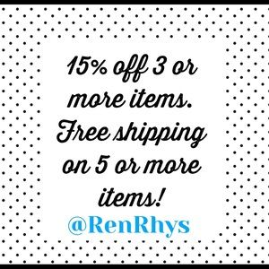 Current sale in my closet: bundle to SAVE!